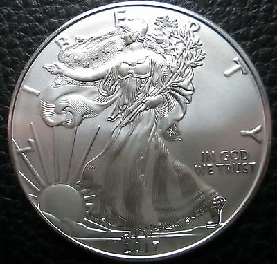 2017  Brilliant Uncirculated American Eagle Silver Dollar