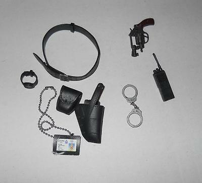 1/6 Dragon Modern police detective Belt and Accessory Set with revolver loose