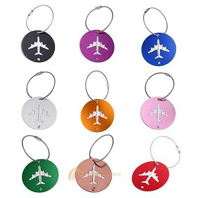 Travel Luggage Bag Tag Name ID Label Alloy Suitcase Baggage Tags Strap Accessory