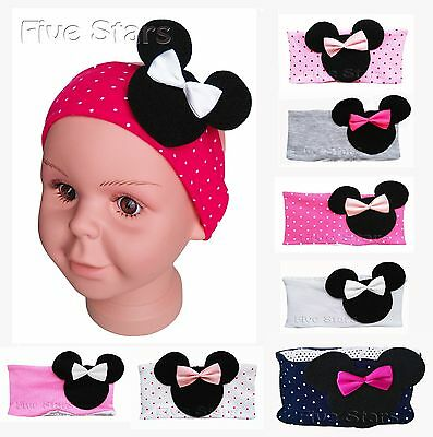 Newborn Baby Girl Infant Kid Headband Cotton Hairband Minnie Mouse Hair 0-12 m