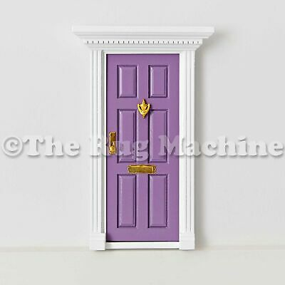 MAGICAL FAIRY DOOR - PURPLE Wooden Miniature Doll Size|Aussie Company **NEW**