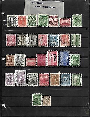 philabec01 Newfoundland lot of 30 different stamps