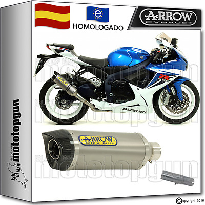 Arrow Kit Tubo De Escape Thunder Titano Carbon-Cup Hom Suzuki Gsx-R 750 2015 15