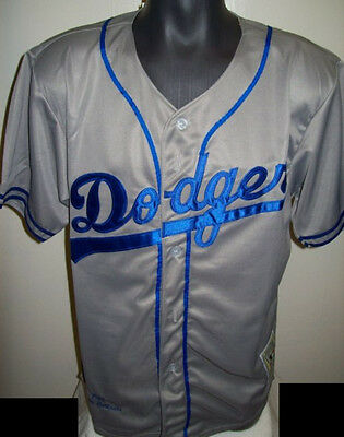 #42 Jackie ROBINSON Dodgers Jersey GRAY with BLUE Trim MEDIUM XL   ...sell off..