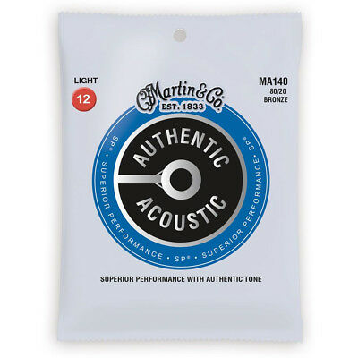 5 Sets Martin MA140 Acoustic Guitar Strings Light Gauge 12-54 Replaces M140
