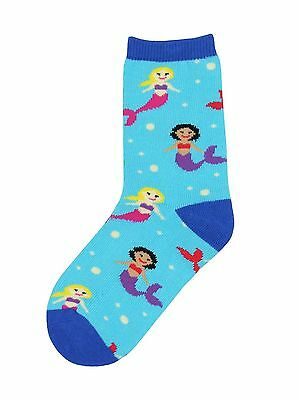 "Kids' Novelty Crew Socks by Socksmith - ""MERMAID YOU LOOK"" fits 4-7 Years - NEW"