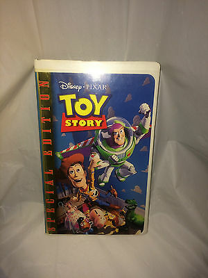 Toy Story (VHS, 1995) Clamshell Kids Cartoon Walt Disney Pixar Gold Edition