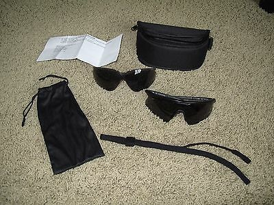 Wiley X WileyX PT-1 Tactical Sunglasses + 2 Smoke Lenses Z87 Safety Glasses
