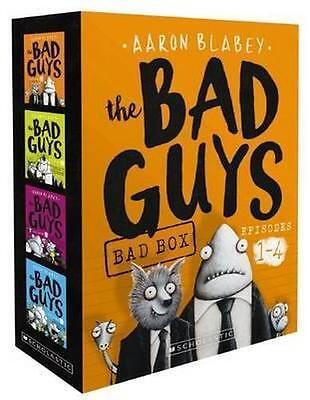 The Bad Guys Bad Box: Episodes 1 - 4 by Aaron Blabey Paperback Book Box Set