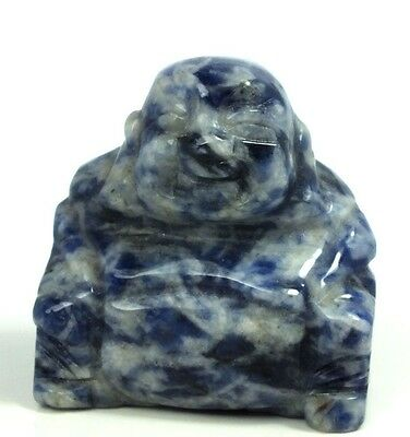 Buddha Carved in Sodalite Crystal (EA928M) reiki healing carving stone stone gem