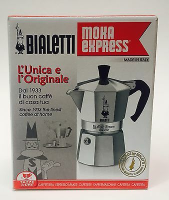 New In Box- Bialetti Moka Express Stovetop Espresso Maker 3 Cup Made In Italy