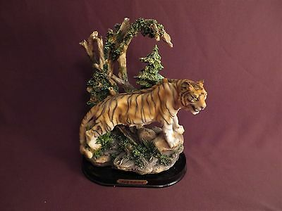 """Ceramic Tiger Figurine - KVB Collection from Prestige - 10"""" Tall by 6 1/2"""" Wide"""