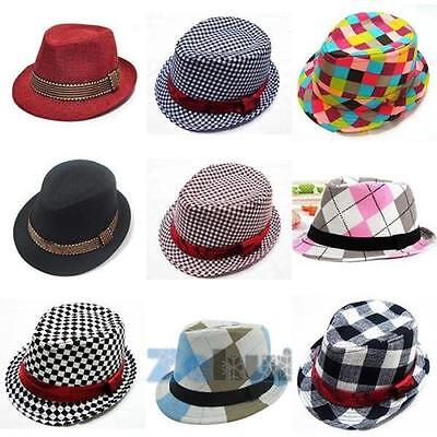 AU Kids Baby Girls Boys Jazz Cap Toddler Cotton Cool Photography Fedora Hat 2-6Y