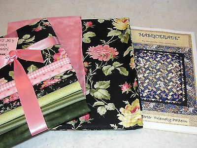 """MASQUERADE Quilt Kit Never Ending Romance Fabric by Pincushion Boutique 44x51"""""""