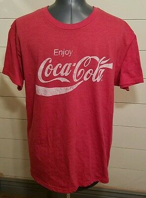Unisex Coca~Cola T-Shirt Red Size XL