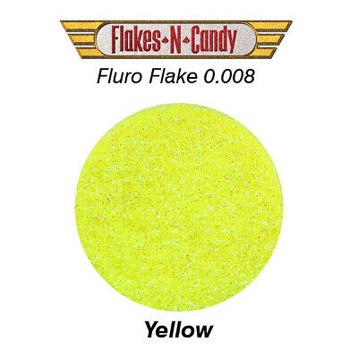 Metal Flake Hologram Flake Glitter (0.008) Paint Flakes 30G Fluro Yellow