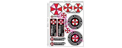 Umbrella Corporation Aufkleber Set Sticker Hive Parking Resident Evil Zombie