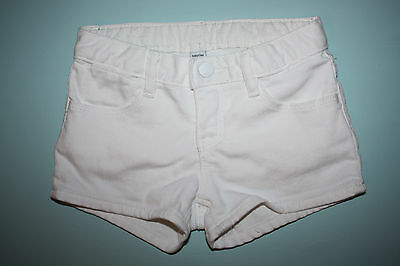 Baby Gap, Size 4, girl's ivory-white jean shorts (denim summer shorts)