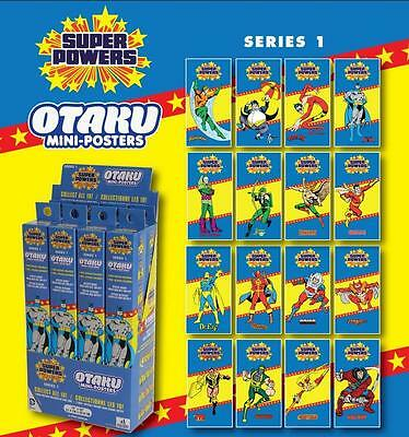 DC Comics Super Powers Mystery OTAKU Mini-Posters - Batman Aquaman Green Arrow