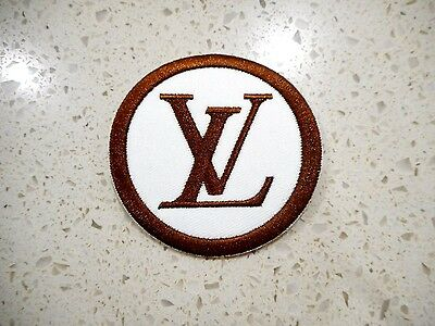 New LV Vuitton Logo Patch Embroidered Cloth Patches Applique Badge Iron Sew On