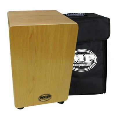 MAPLE MANO PERCUSSION CAJON DRUM, WOODEN RHYTHM BOX with BLACK PADDED GIG BAG