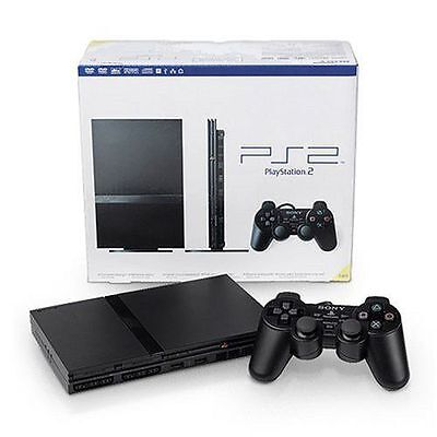 Sony PlayStation 2 PS2 Black Console Ps1 Compatible FAST FREE Priority Shipping