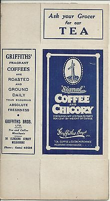 Vintage Griffiths Bros 1/2 Lb Packet Signal Coffee & Chicory Packet Unused Tea