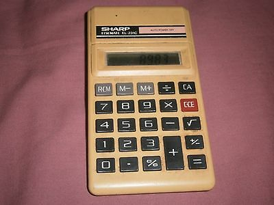 Sharp Elsi Mate El-231C Vintage Calculator Lcd Working Rare - Free Postage