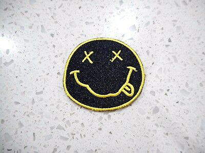 New Nirvana Patch Embroidered Cloth Patches Applique Badge Iron Sew On Music