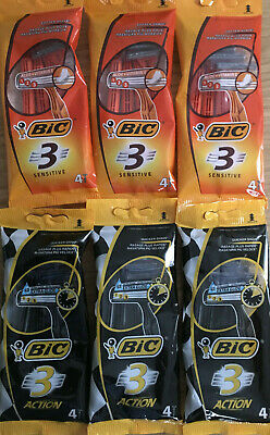 Bic 3 Sensitive/ ActionTriple Blade Disposable Razor Quick Dispatch & Delivery..