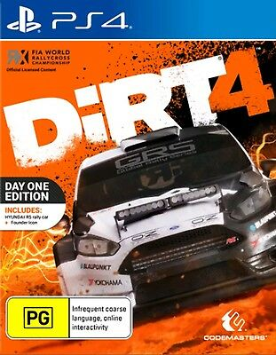 DiRT 4 Day One Edition PS4 Game NEW !!!