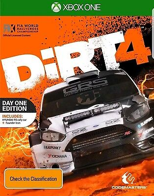 DiRT 4 Day One Edition Xbox One Game NEW