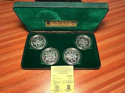 Commemorative Coin 1980 OLYMPICS Isle Of Man 4 X Silver Crowns