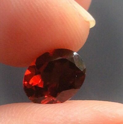 1 PC OVAL CUT SHAPE NATURAL GARNET 9MM x 7MM LOOSE GEMSTONE