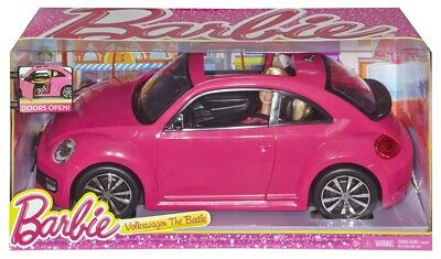 Mattel Barbie Volkswagen The Beetle & Barbie Puppe | Barbie Auto mit Barbiepuppe
