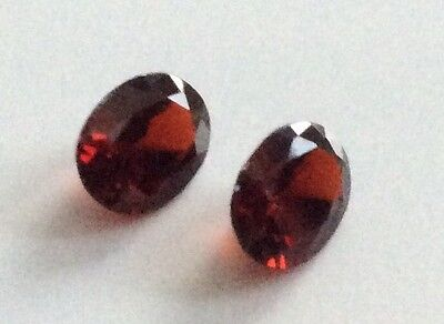 1 PC OVAL CUT SHAPE NATURAL GARNET 7MM x 5MM LOOSE GEMSTONE