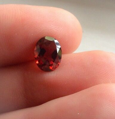 2 PC OVAL CUT SHAPE NATURAL GARNET 6x4MM LOOSE GEMSTONES