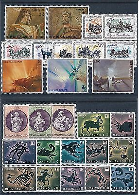 San Marino 1969 to 1970 Selection of Mint Never Hinged