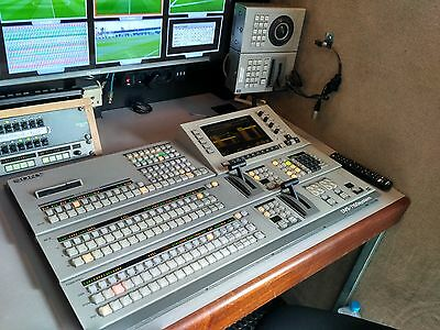 PAL VIDEO MIXER SONY DVS 7150 WITH 2 DME's, IN PERFECT ORDER, 20 SDI IN