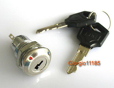5pcs Key Switch ON/OFF Lock Switch KS-01