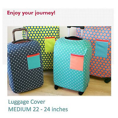 "22-24"" MEDIUM Elastic Luggage Suitcase Cover Protection Protector Covers Travel"