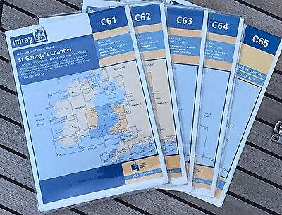 Set of 5 charts / Jeu de 5 cartes Imray C61 C62 C63 C64 C65 UK/Ireland/Scotland