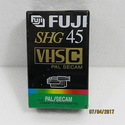 FUJI SHG VHS-C EC-45 PAL SECAM COMPACT VIDEO CASSETTE New Sealed...