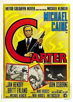 GET CARTER LAMINATED MINI  A4 POSTER MICHAEL CAINE style 2
