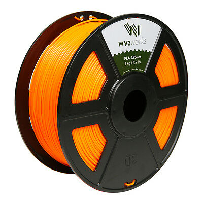 WYZwork 3D Printer Premium PLA Filament 1.75mm 1kg/2.2lb - Fluorescent Orange