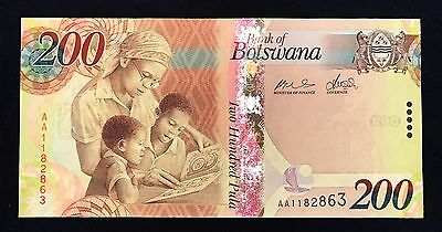 Botswana 200 pula 2009 Female Teacher - P34 - Signature 8 - UNC