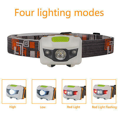 4 Mode Waterproof Headlamp R3+2 LED Headlight Head Torch Lamps 600LM Light Lamp