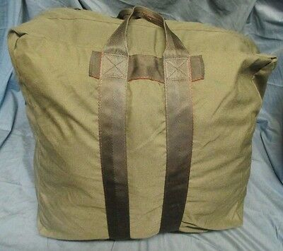 Genuine Us Army/usaf/usmc/navy Issue Olive Green A3 Flyer's/kit/parachute Bag.