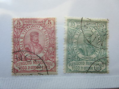 ITALY  Scott  117-118  set   USED   LotB  Cat $305