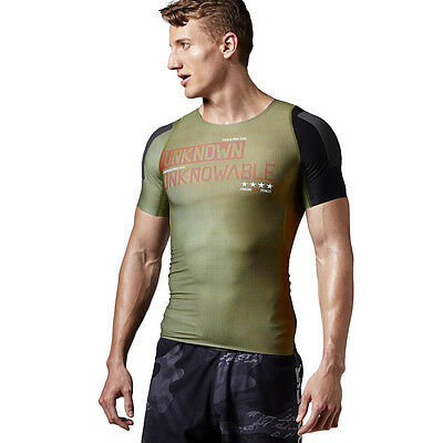 Mens Reebok CrossFit Compression Tee Built With Kevlar Training Wicking Shirt